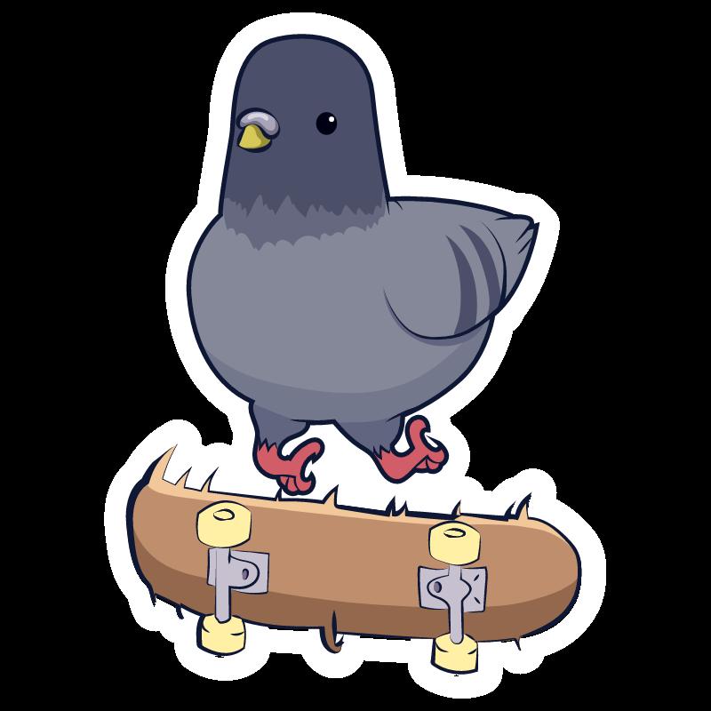 Pigeon Kickflip Sticker