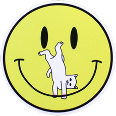 RIPNDIP Smile Face Nermal Sticker