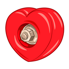 Skateboard Heart Wheel Sticker