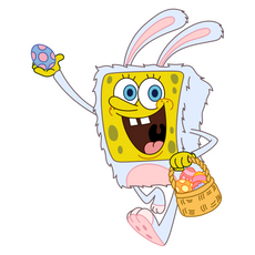 Easter Bunny SpongeBob Sticker
