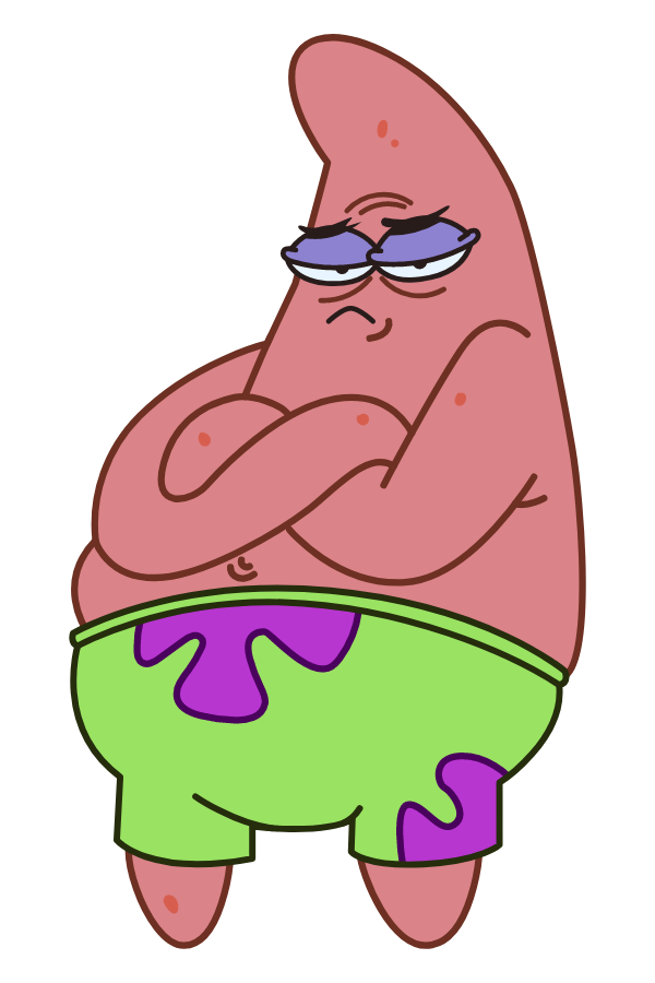 SpongeBob Offended Patrick Star Sticker