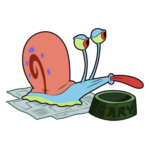 SpongeBob Gary with Empty Bowl Sticker