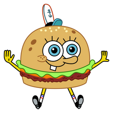 SpongeBob Crabsburger Sticker