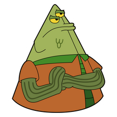 SpongeBob Flats the Flounder Sticker