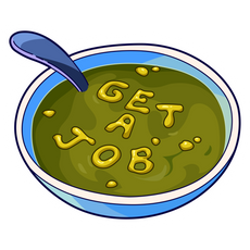 SpongeBob Get A Job Soup Sticker