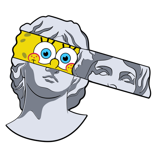 SpongeBob Greek Statue Sticker