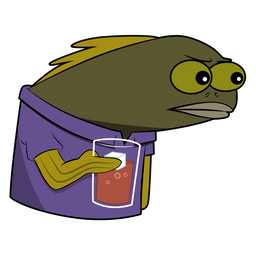Spongebob Long Neck Fish Sticker