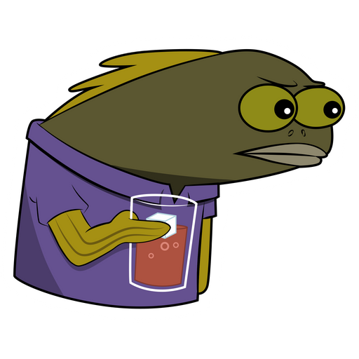 Spongebob Long Neck Fish Sticker