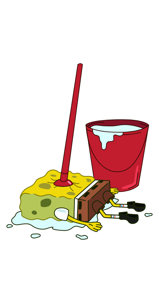 SpongeBob Mop Sticker
