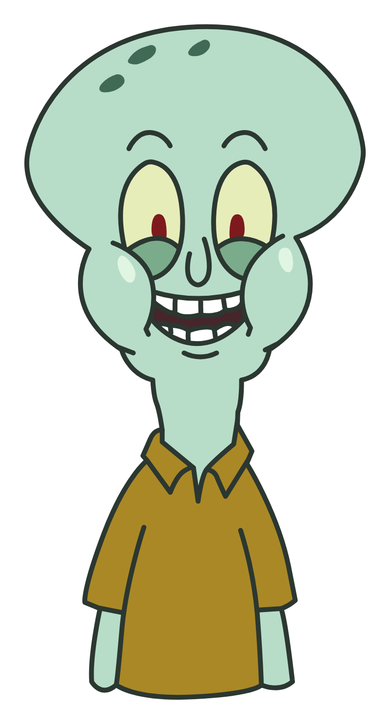 SpongeBob Normal Squidward Meme Sticker
