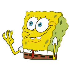 Spongebob The Gang's All Here Sticker