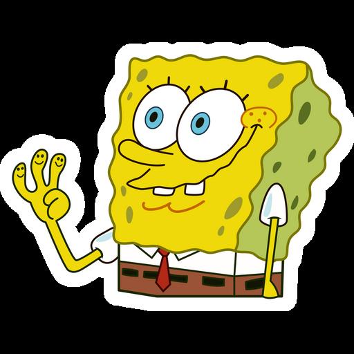 Spongebob The Gang's All Here Sticker