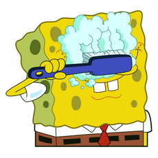 SpongeBob Washing Eyes Sticker