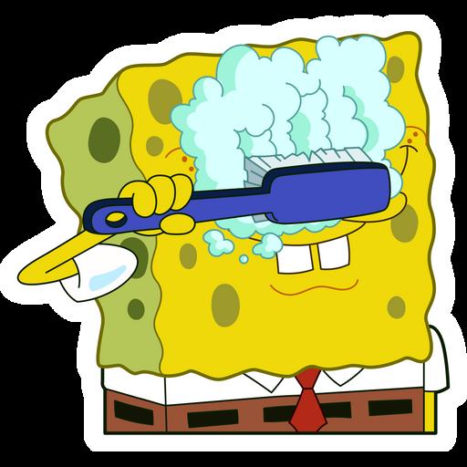 SpongeBob Washing Eyes Sticker