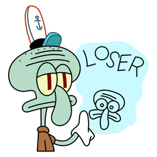 Squidward Loser Sticker