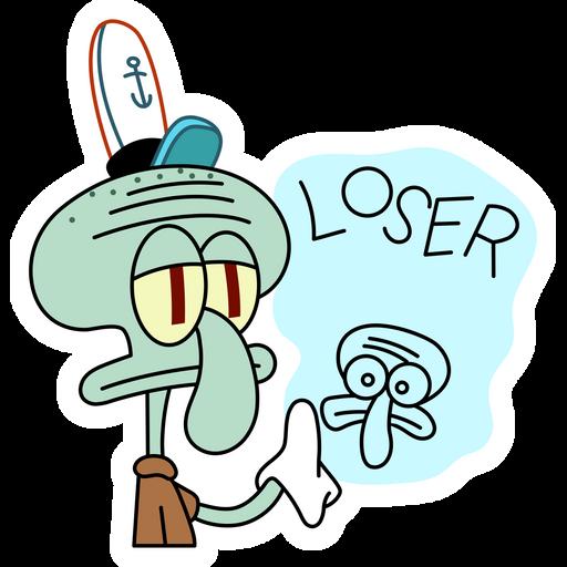 Squidward Loser Sticker