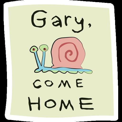 SpongeBob Gary, Come Home Sticker
