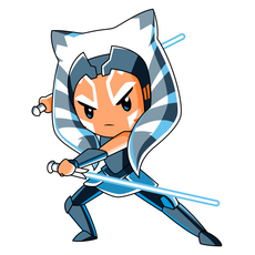 Star Wars Chibi Ahsoka Tano Sticker