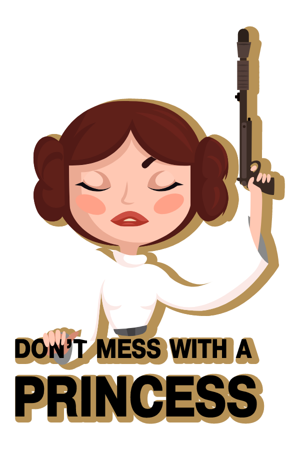 Star Wars Dangerous Princess Leia Sticker