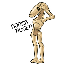 Star Wars Battle Droid Roger Sticker