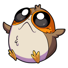 Star Wars Cute Baby Porg Sticker