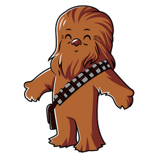 Star Wars Cute Chewbacca Sticker