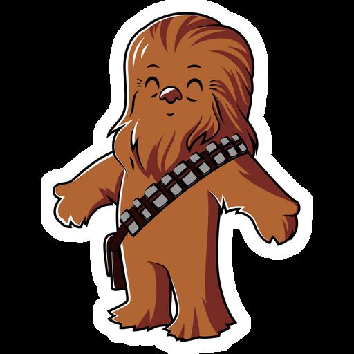 Star Wars Cute Chewbacca Sticker