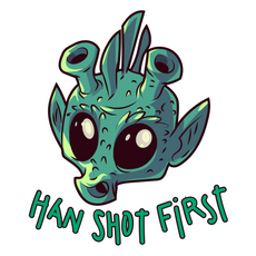 Star Wars Greedo Han Shot First Sticker