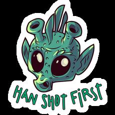 Star Wars Greedo Han Shot First Sticker
