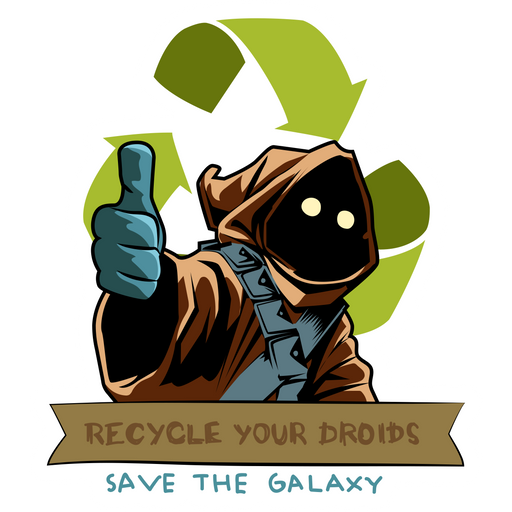 Star Wars Jawa Recycle Sticker