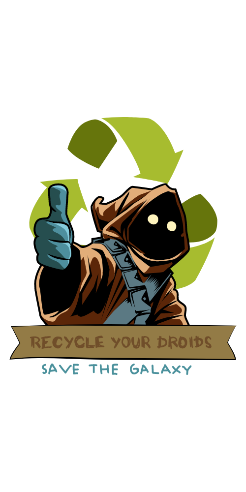 Star Wars Jawa Recycle Sticker