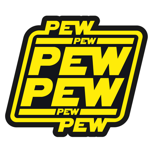 Star Wars Logo Pew Pew Pew Sticker