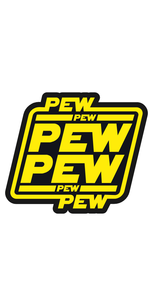Star Wars Logo Pew Pew Pew Sticker