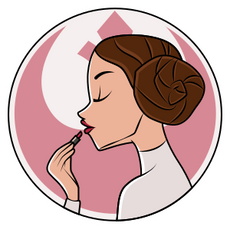 Star Wars Princess Leia and Lipstick Sticker
