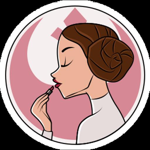 Star Wars Princess Leia and Lipstick Sticker