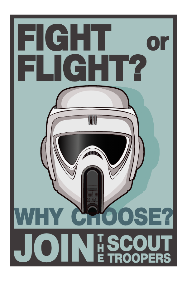 Star Wars Scout Troopers Poster Sticker