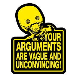 Star Wars K-2SO Your Arguments Sticker