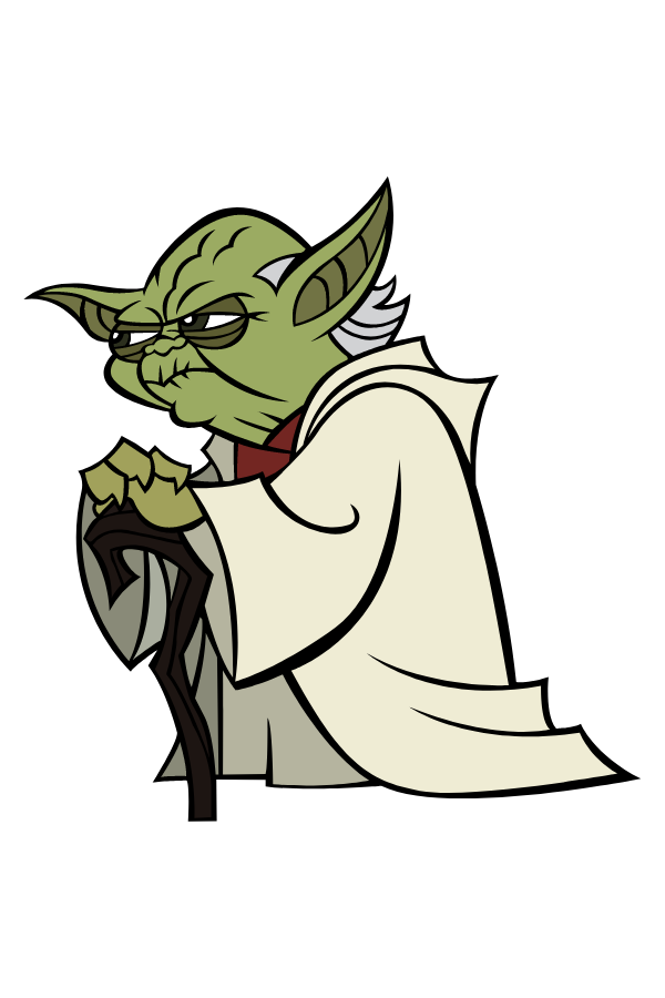 Star Wars Cartoon Yoda Sticker