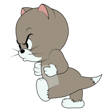 Tom and Jerry Furious Topsy Sticker