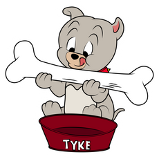 Tom and Jerry Tyke Eating Bone Sticker