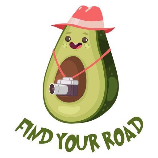 Avocado Find Your Road Sticker