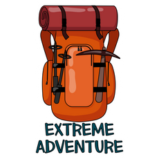 Backpack Extreme Adventure Sticker