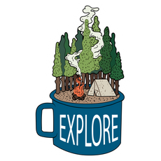 Explore Mug Sticker