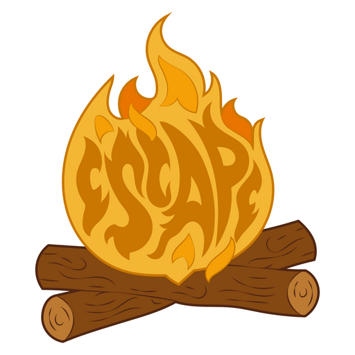 Fire During Hike Escape Sticker