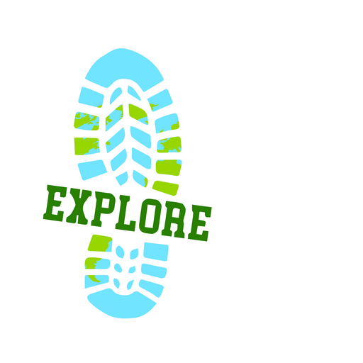 Footprint Explore Sticker