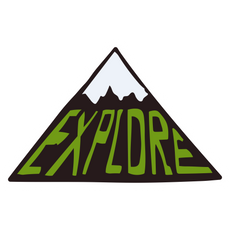 Explore Mountain Sticker