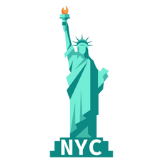 Statue Of Liberty NYC Sticker