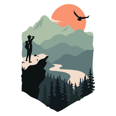 Desire for the Mountains Sticker