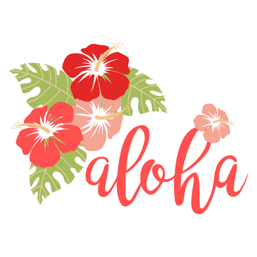 Aloha Hibiscus Flowers Sticker