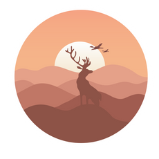 Sepia Wildlife Sticker